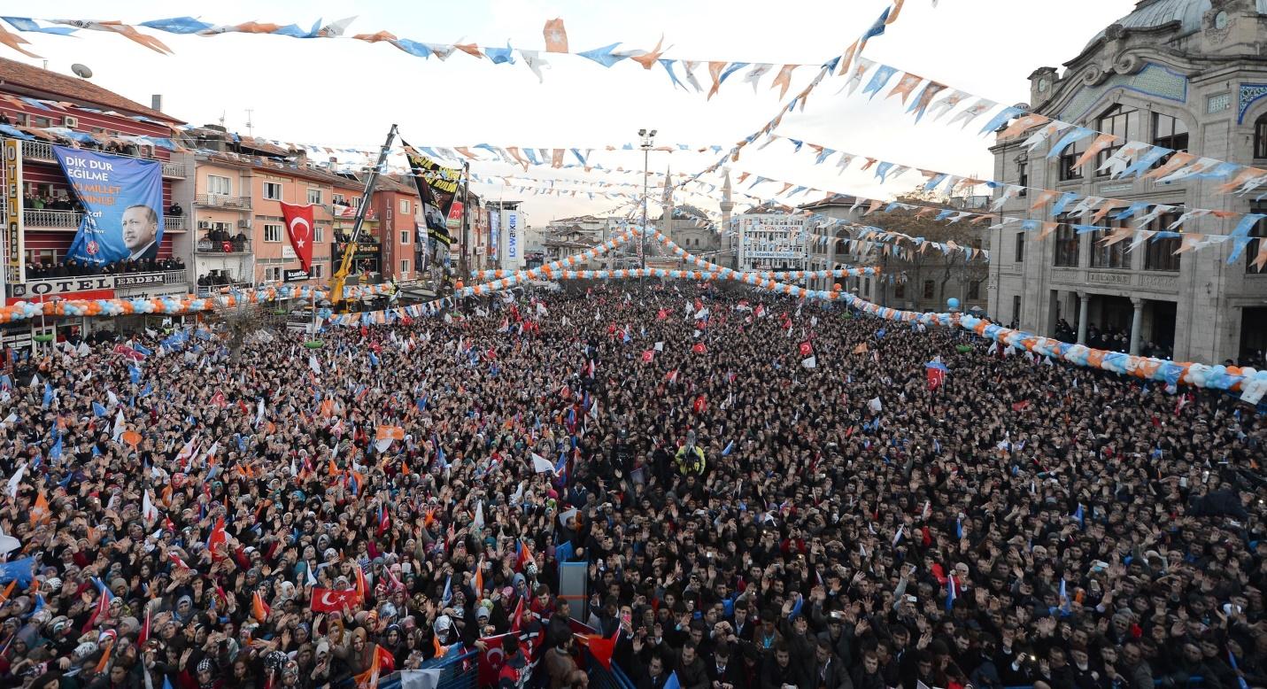 أنصار أردوغان يملأون الشوارع