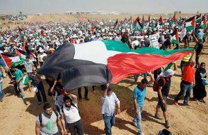 الفلسطينيين مسيرة العودة