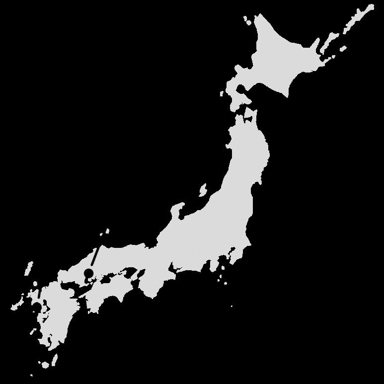 خريطة توضح مدينتي (هيروشيما) و(ناجازاكي) اليابانتين اللتين تعرضتا للقصف النووي في أغسطس 1945