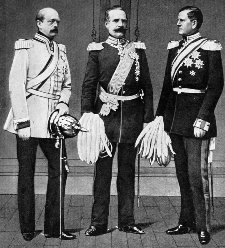 أوتو فون بسمارك مع قادة الجيش البروسي