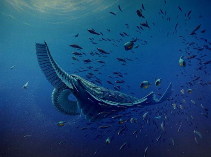 4),  مخلوق, بحري, عملاق, من ,العصر, الكمبري