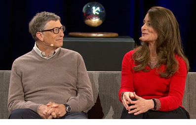 بيل وميليندا أثناء المقابلة