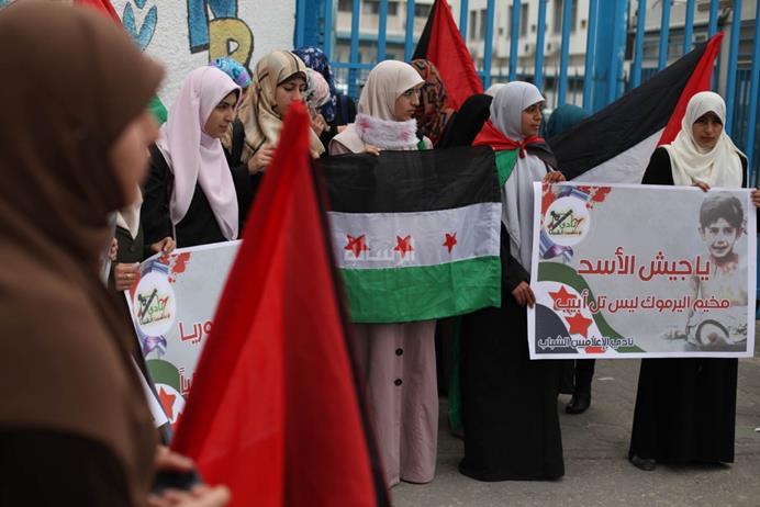 فلسطينيات يطالبن بتحديد الفلسطينيين عن الصراع السوري