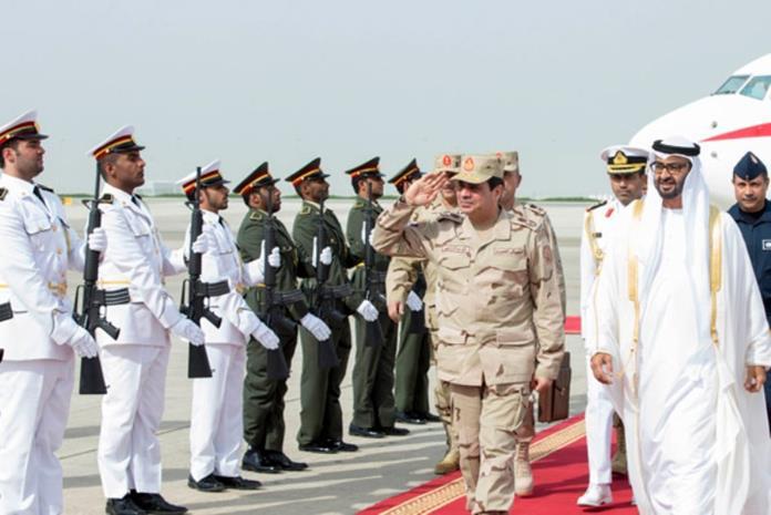 حاكم أبو ظبي والمشير عبد الفتاح السيسي