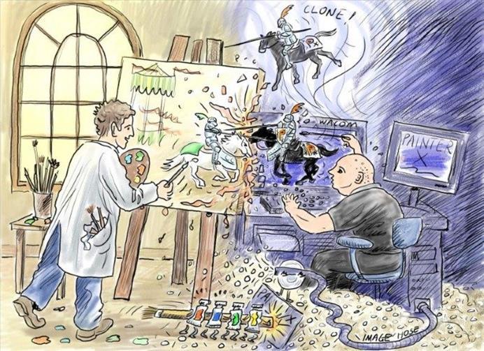 Traditional art vs digital art