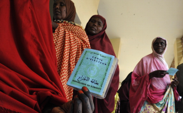 Djiboutian women wait to cast their vote