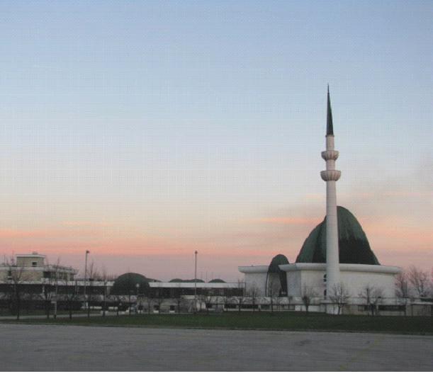 المسجد المركزي في زغرب عاصمة كرواتيا