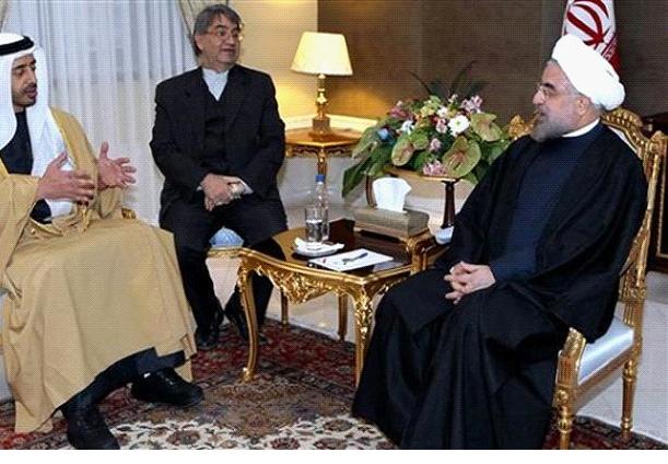 وزير الخارجية الإماراتي في ضيافة الرئيس الإيراني حسن روحاني