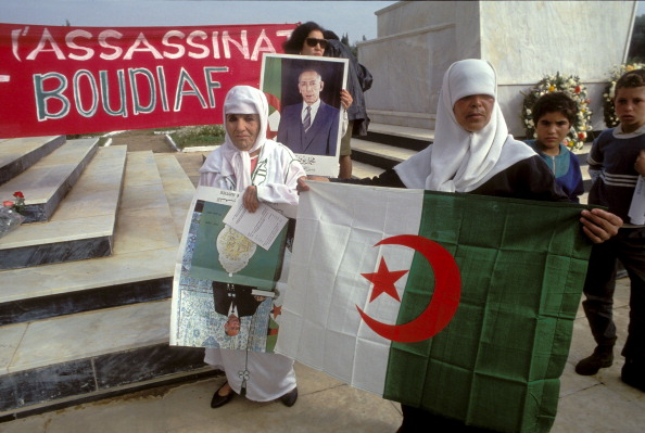 Ceremony Against Terrorism In Front Of The Tomb Of Boudiaf In Algiers, Algeria On November 01, 1993.