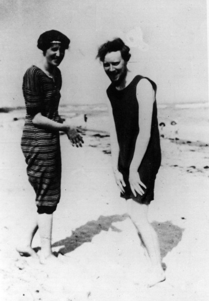 Virginia Woolf On The Beach With Clive Bell