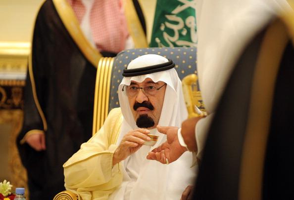 Saudi King Abdullah bin Abdul Aziz drink