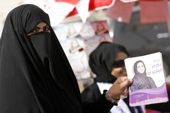 A Kuwaiti woman supporting candidate Zek