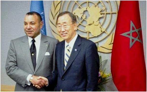 الملك محمد السادس مع بان كي مون