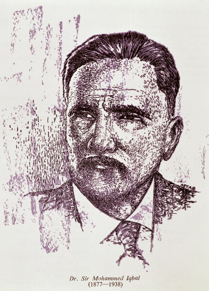 Portrait of Muhammad Iqbal