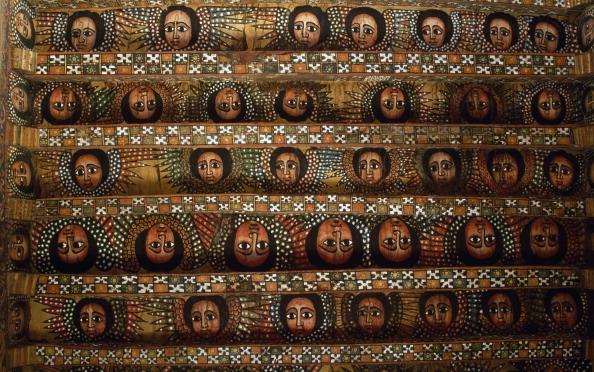 Human faces, Debre Birhan Selassie coptic Church