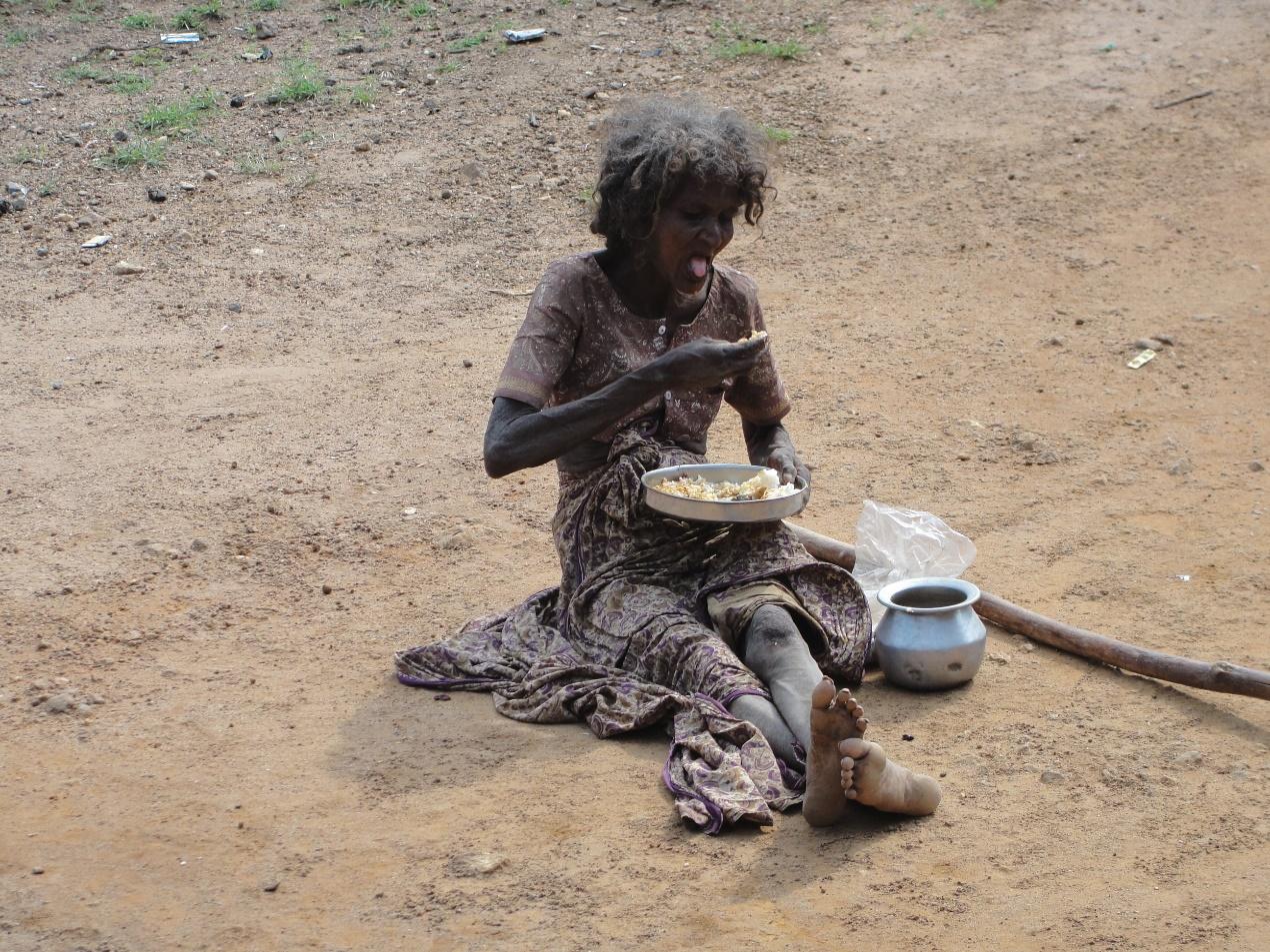 امرأة فقيرة في الهند