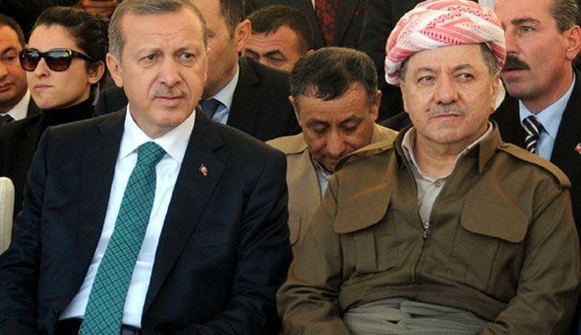 اردوغان يستقبل بارزاني في دياربكر بتركيا