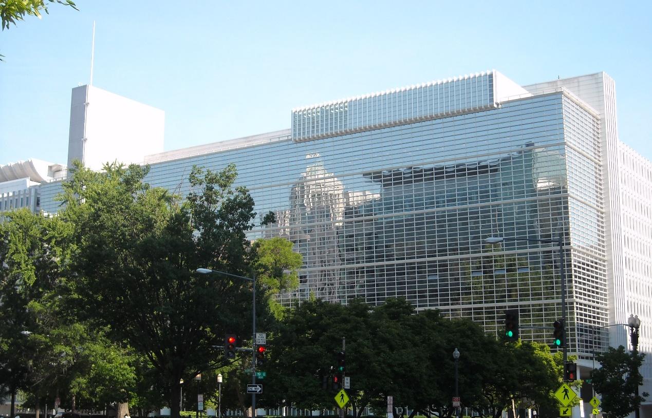 البنك الدولي، ومقره أمريكا