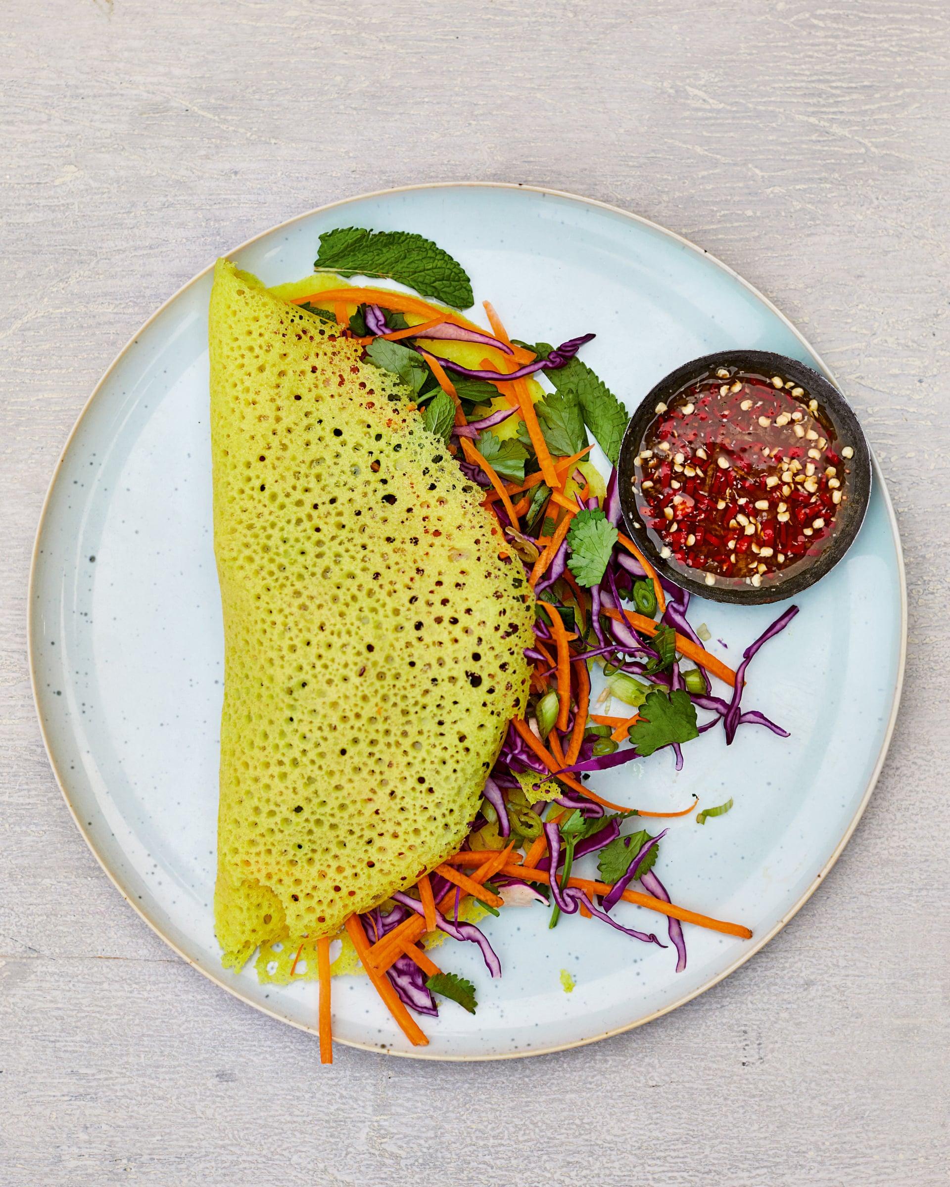 فطائر بان كيك جوز الهند الفيتنامية (وصفات طبخ نباتية)