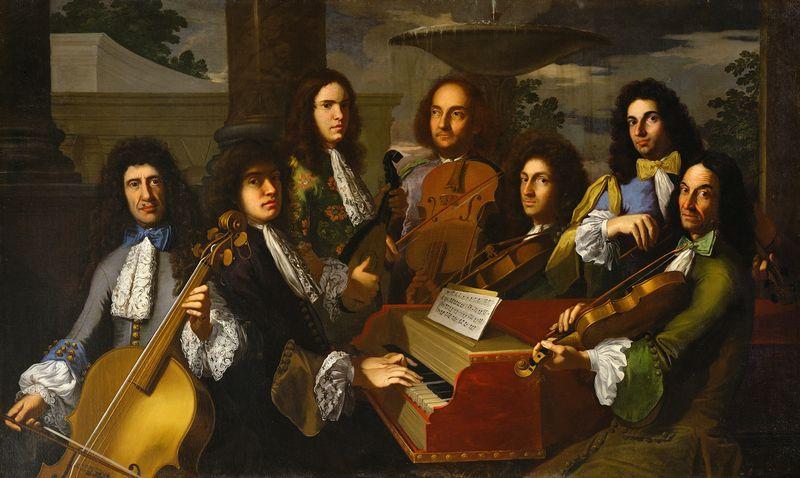 صورة لفرديناندو دي ميديتشي مع الموسيقيين الذين عملوا لديه