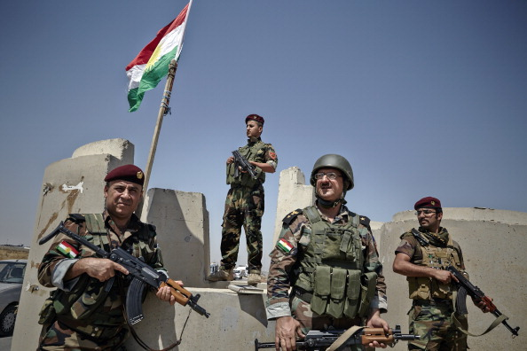 Peshmerga Fighters Provide Security