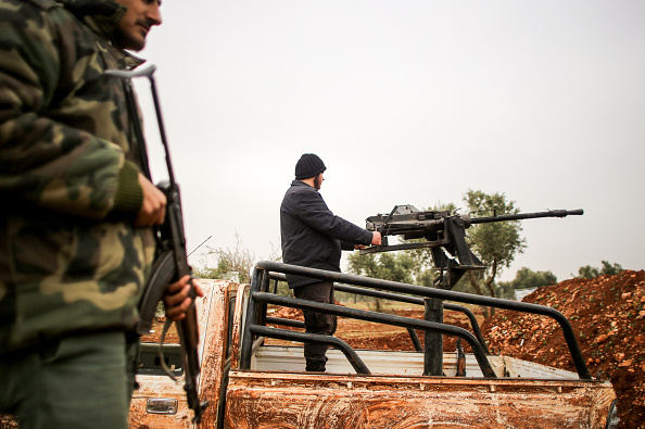 Fighters belonging to the Al-Qaeda in the Levant, while