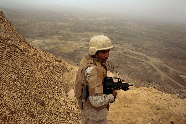 Saudi Military On Yemen Border