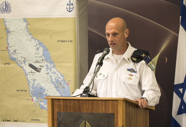 Israeli's Brigadier General Yaron Levi, the Navy's intelligence chief, gives a press conference at the Defence Ministery in Tel Aviv, on March 5, 2014, as he briefs the press on events in the Red Sea. Israel said it intercepted a ship carrying an Iranian shipment of advanced rockets bound for Palestinian militants, claiming it proved Tehran could not be trusted in international nuclear talks. AFP PHOTO / JACK GUEZ (Photo credit should read JACK GUEZ/AFP/Getty Images)
