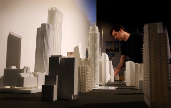 Exhibition Of Planned Skyscrapers For London