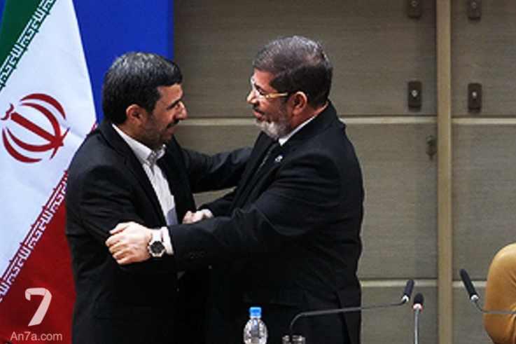 الرئيس المصري المخلوع محمد مرسي أثناء زيارته لطهران