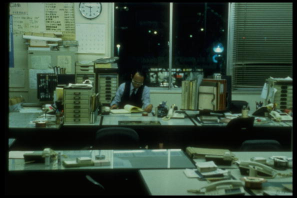 Middle aged manager working alone in office at 9:30pm. Death from overwork, called Karoshi, has become major cause of concern.  (Photo by Kaku Kurita/The LIFE Images Collection/Getty Images)