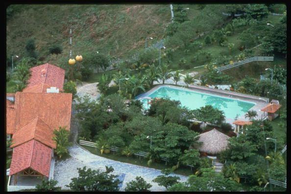 Aerial of lush estate of Pablo Escobar Gaviria, ldr. of drug cartel, known as Hacienda Napoles. (Photo by Timothy Ross/The LIFE Images Collection/Getty Images)