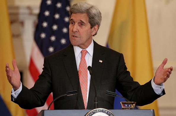 John Kerry Meets With Colombian President Juan Manuel Santos