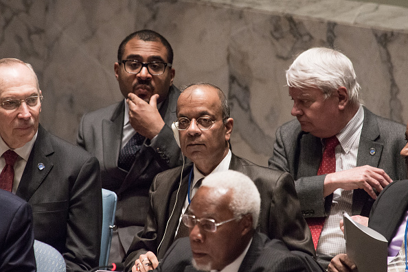 UN HEADQUARTERS, NEW YORK, NY, UNITED STATES - 2016/03/10: USG for Field Support Atul Khare (center) attends the Security Council debate. In effort to address recent sexual abuse and exploitation allegations against UN peacekeeping forces -- a preponderance of which have been claimed against peacekeepers in the Central African Republic -- the United Nations Security Council heard a report from UN Secretary-General Ban Ki-moon and held a debate toward a draft resolution on the crisis. (Photo by Albin Lohr-Jones/Pacific Press/LightRocket via Getty Images)