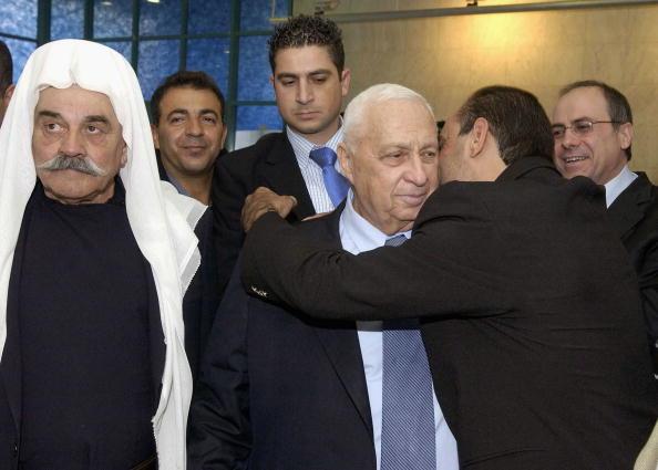 Israeli PM Sharon Visits Azzam Azzam