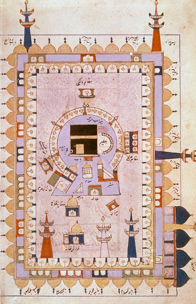 Plan of the Grand Mosque in Mecca