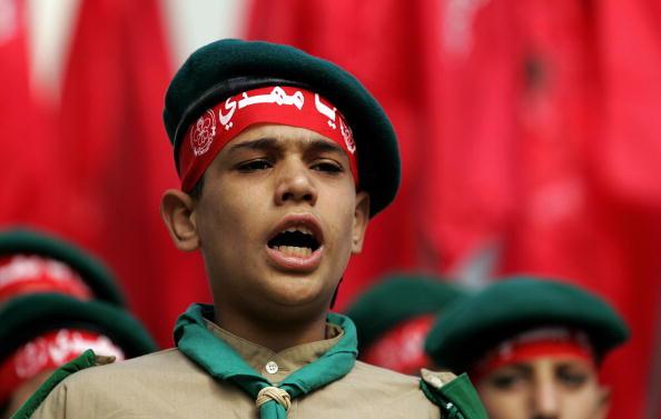 A young boy of Hezbollah's al-Mehdi scou