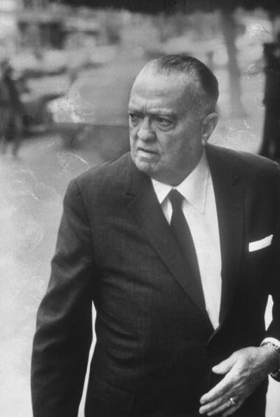 UNITED STATES - APRIL 01:  FBI Director J. Edgar Hoover.  (Photo by Charles H. Phillips/The LIFE Images Collection/Getty Images)