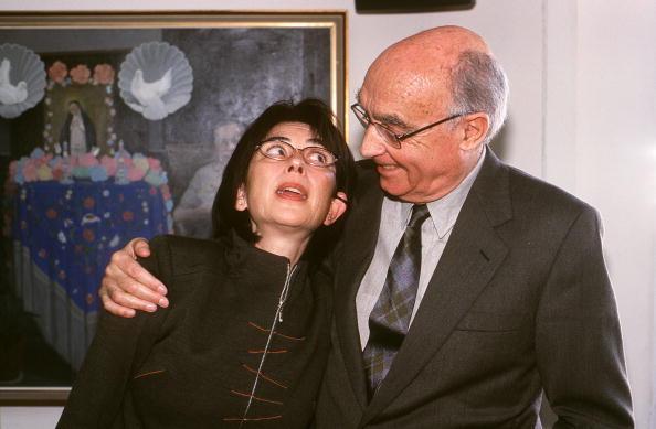 Jose Saramago accompanied by their wife and translator to Spanish, Pilar del Rio. Jose Saramago, pri