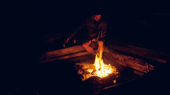 طهو الطعام على النار
