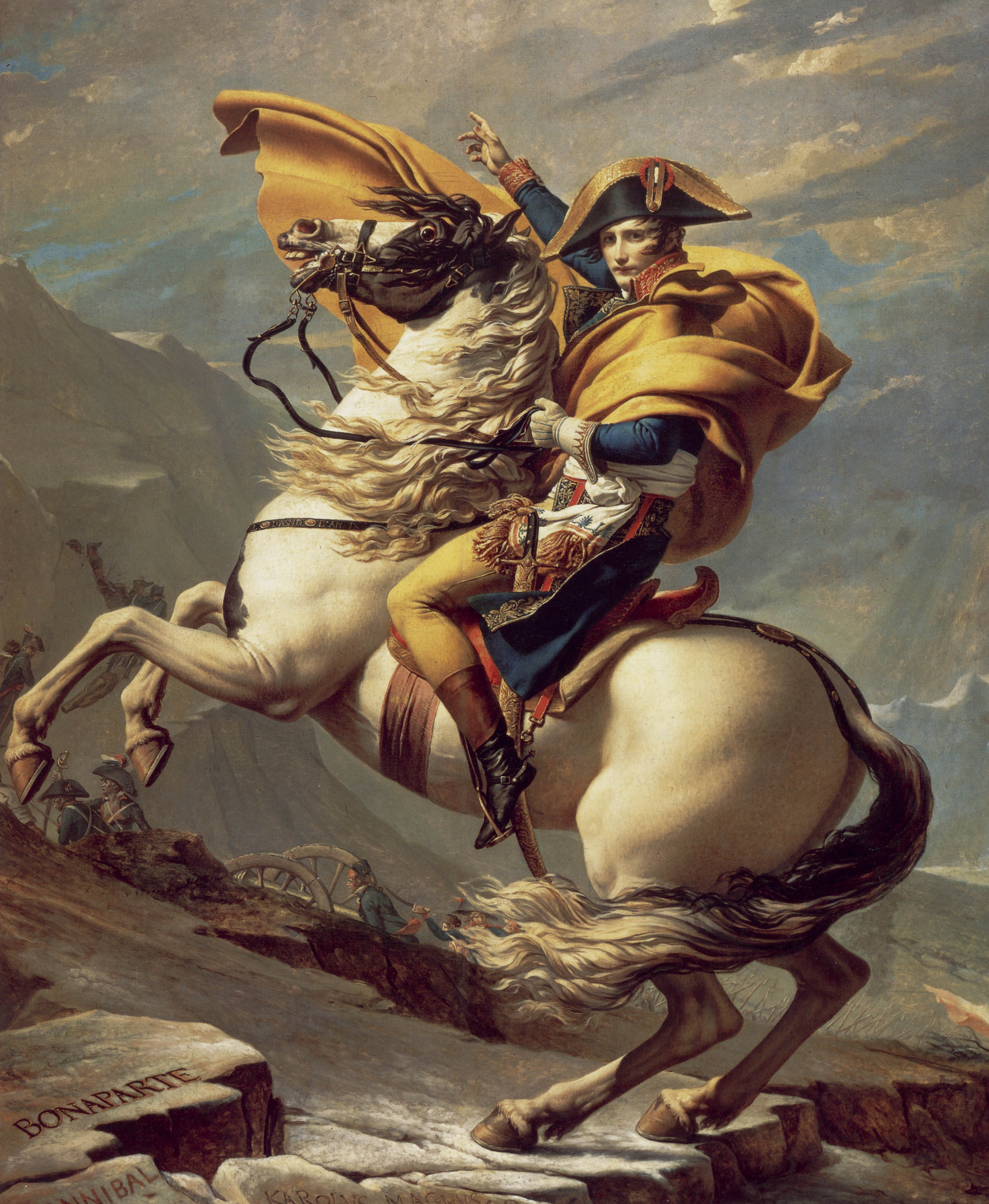 David_-_Napoleon_crossing_the_Alps_-_Mal