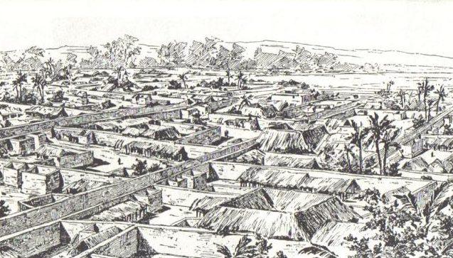 أفريقية دمرها الأوروبيون ربما تسمع drawing_of_benin_city_made_by_an_english_officer_1897-e1595170101405.jpg