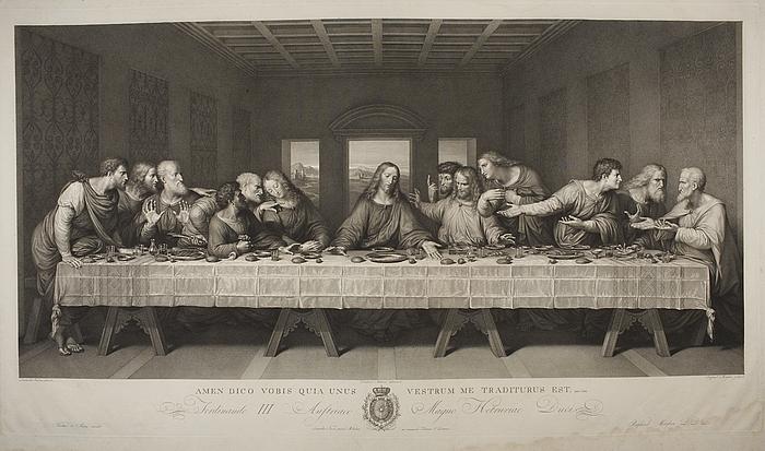 نسخة من لوحة العشاء الأخير