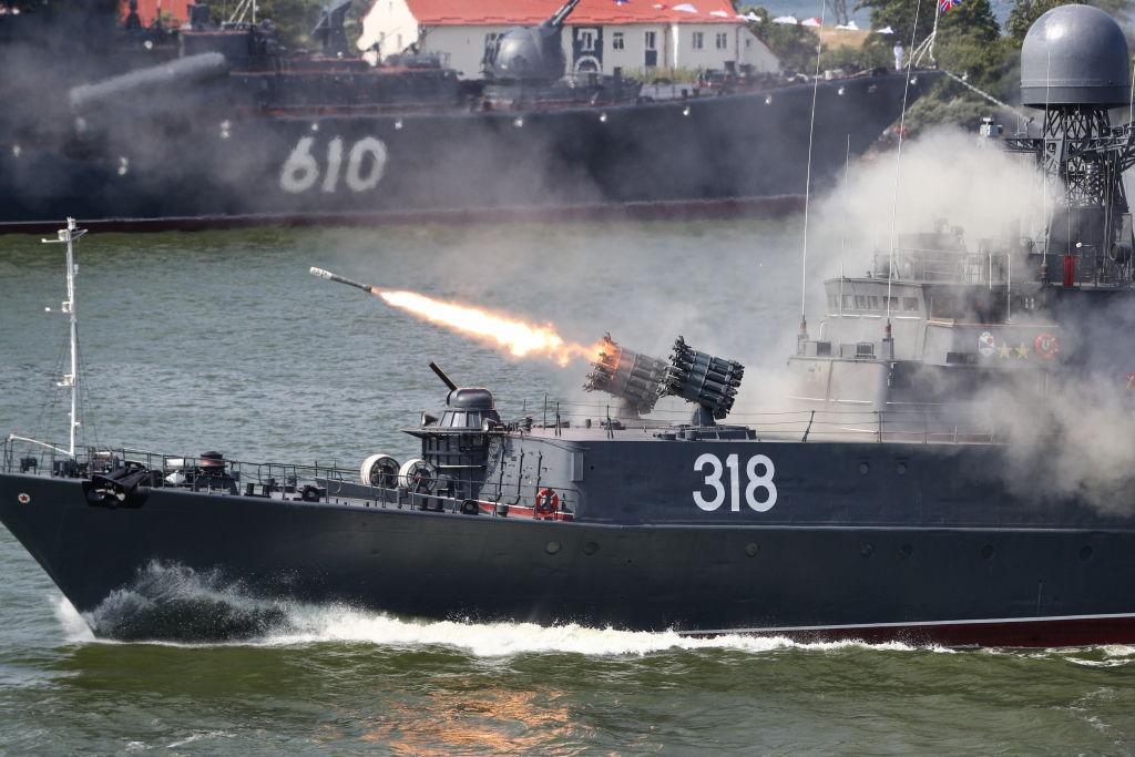 احتفال بيوم البحرية الروسي في كالينينجراد