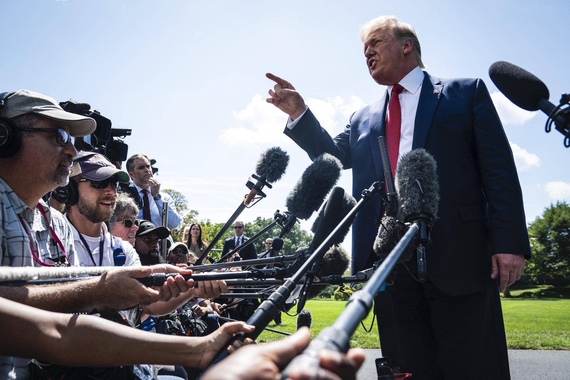 ترامب في لقاء مع الصحفيين