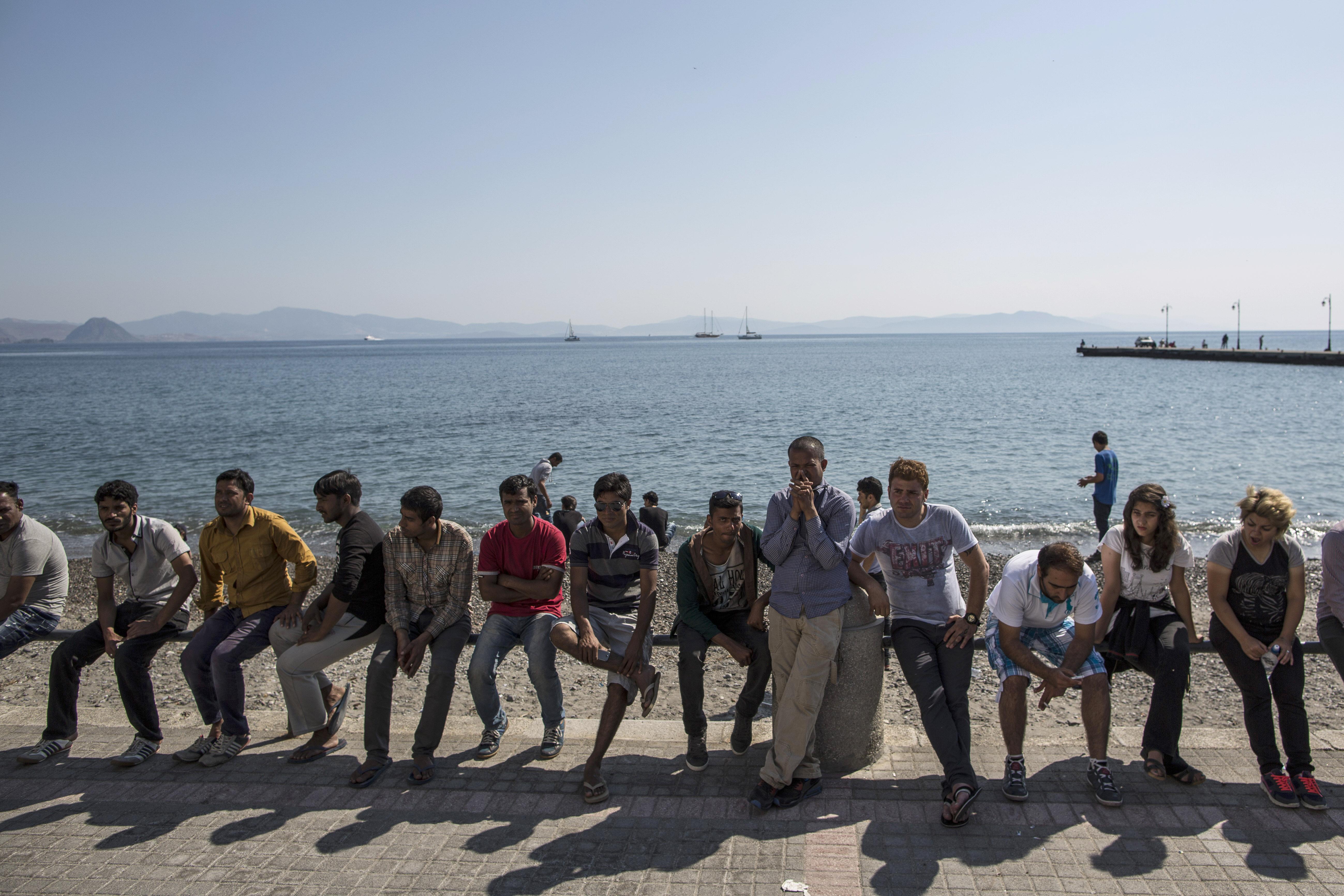 حراقة في إحدى السواحل الأوروبية