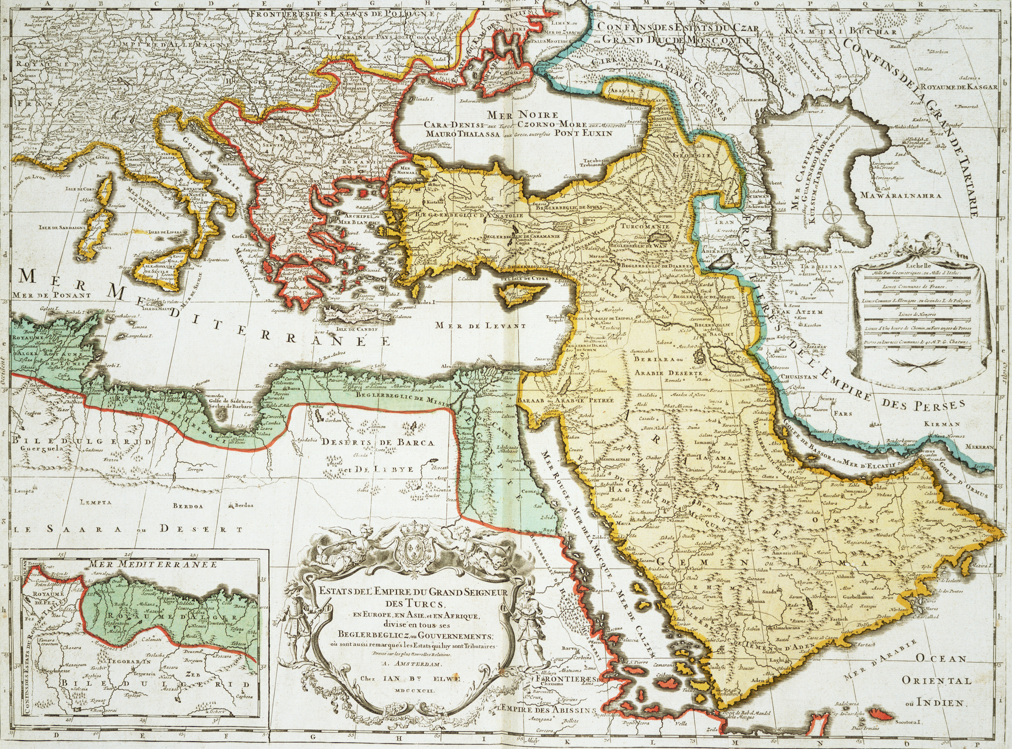 خريطة الدولة العثمانية قبل انهيارها.