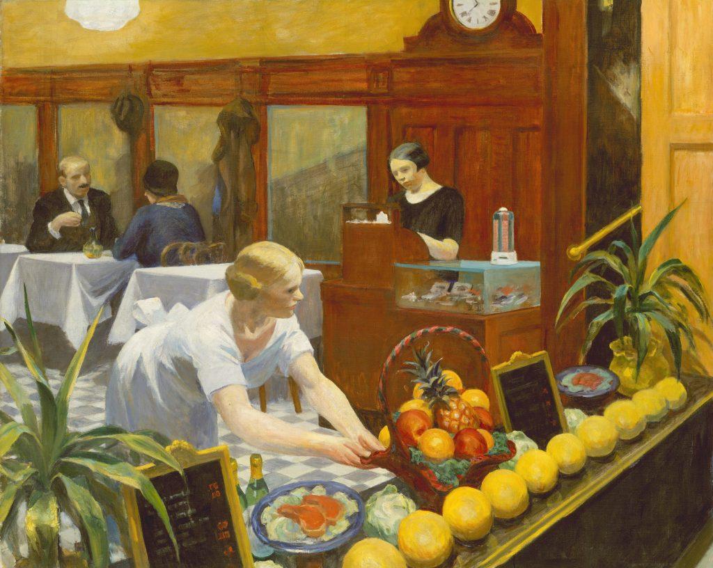 طاولات للسيدات - لوحة بريشة الرسام الأمريكي إدوارد هوبر