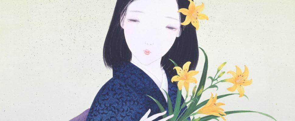 صورة تخيلية لفتاة ترتدي زي الكيمونو، رسمها أحد الفنانين اليابانيين