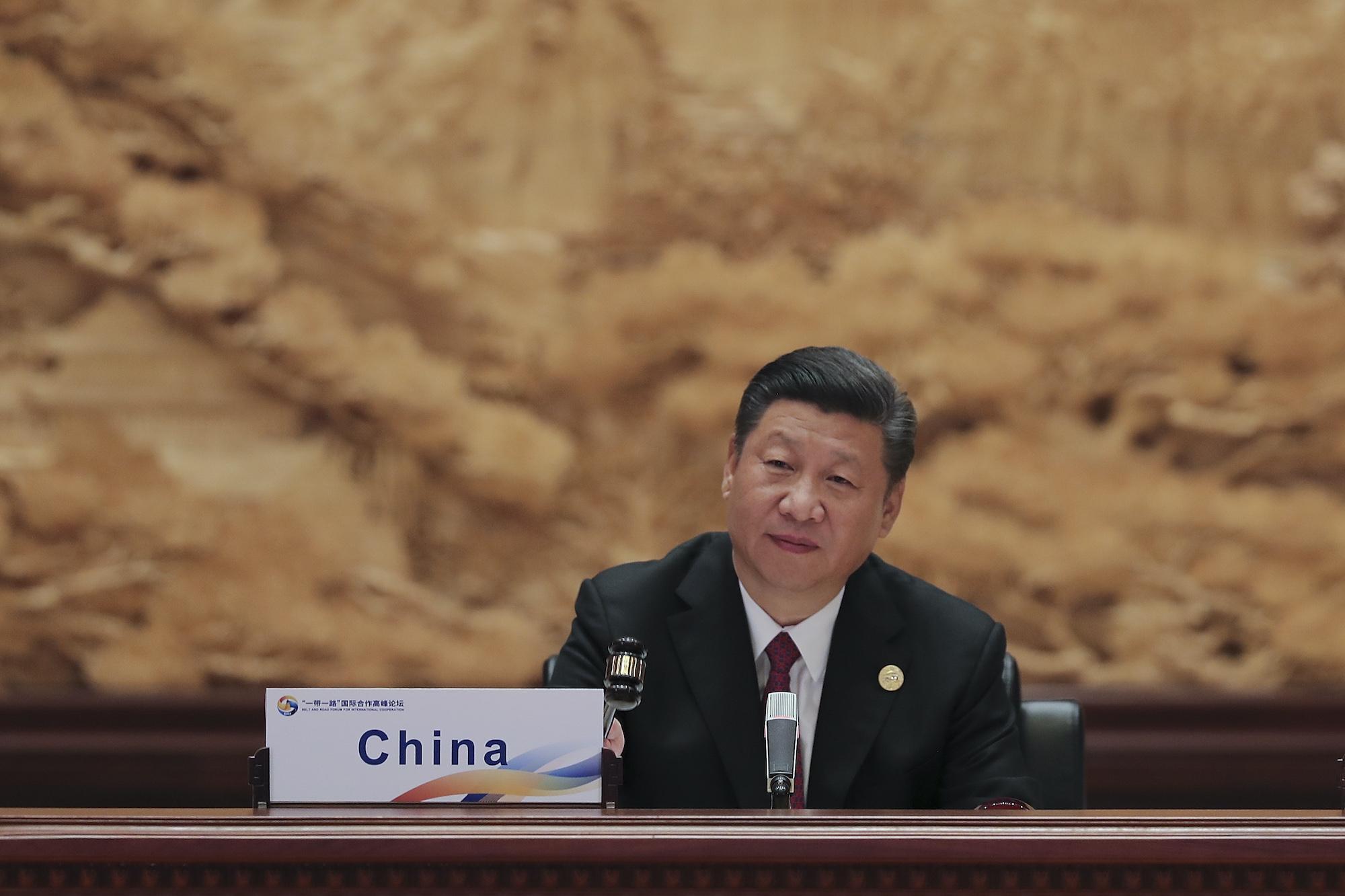 الرئيس الصيني في مؤتمر مبادرة الحزام والطريق